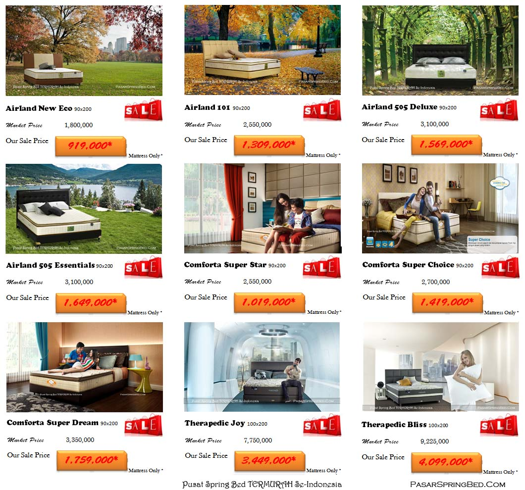harga spring bed-kasur-spring bed-ranjang-tempat tidur-toko-jual-harga-murah