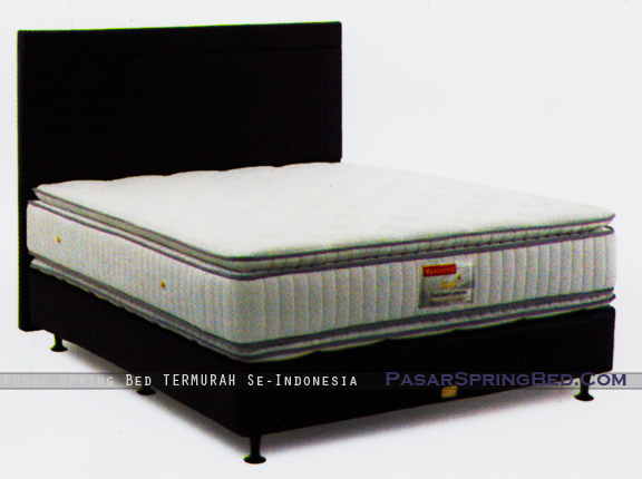 harga musterring spring bed - master double pillow top - divan chicago hb benfica - master series - w