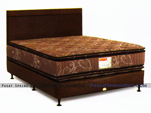 harga musterring spring bed - master double pillow top - divan chicago hb chicago- master series - w