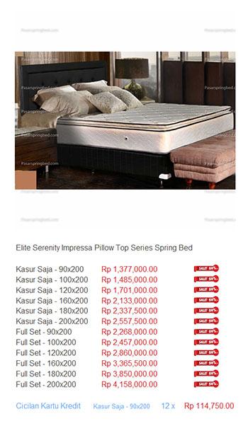 harga elite serenity spring bed