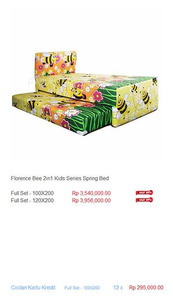 harga florence spring bed10