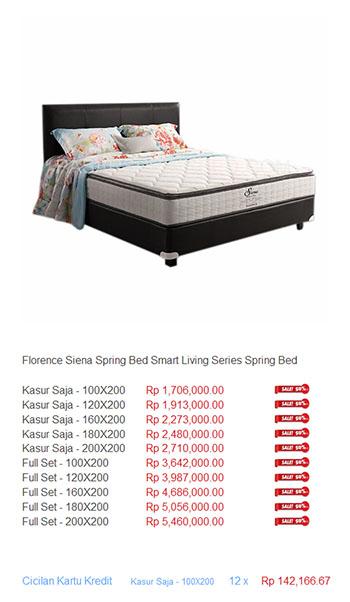 harga florence spring bed2