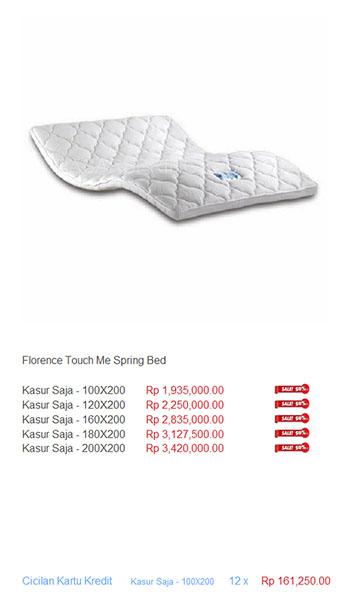 harga florence spring bed4