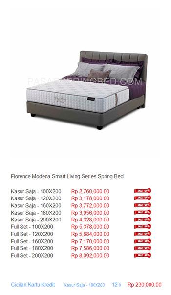 harga florence spring bed6