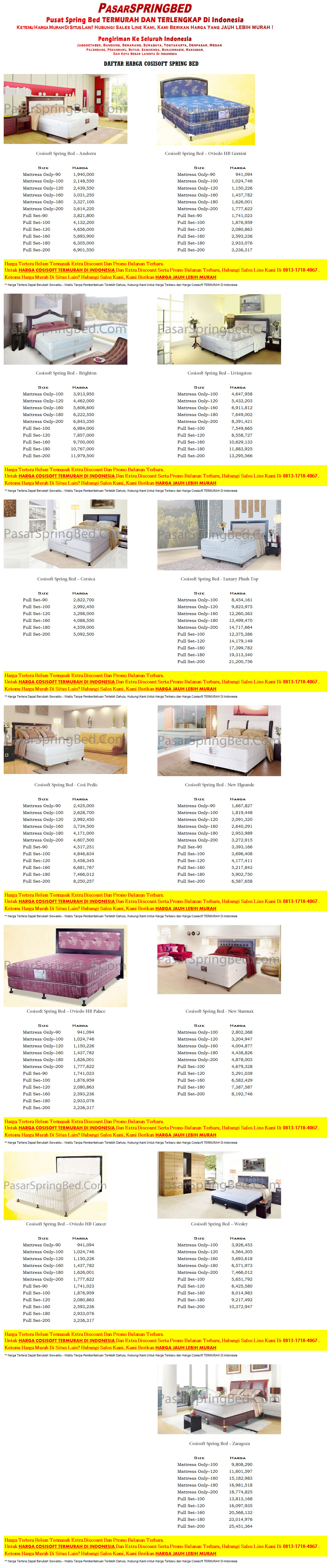 harga-cosisoft-spring-bed