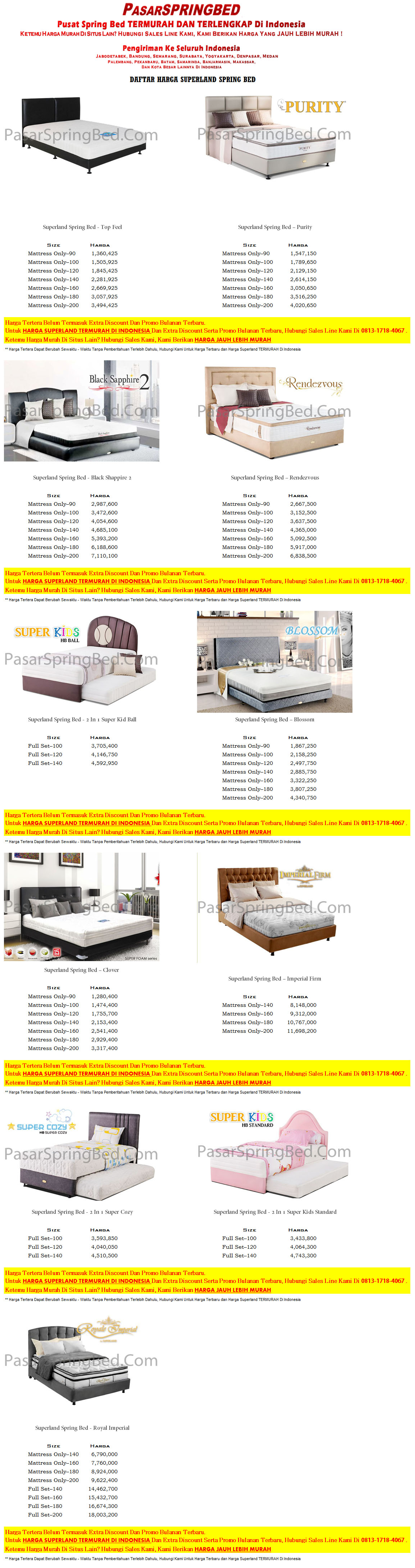 harga-superland-spring-bed