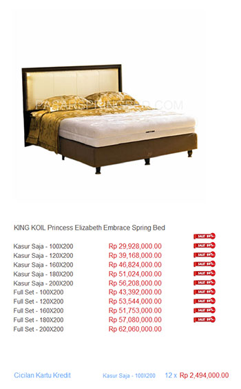 Spring Bed King Koil Indonesia