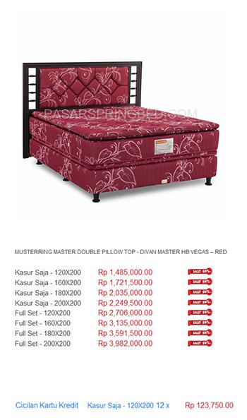 harga musterring spring bed