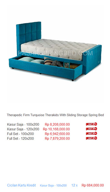 harga therapedic spring bed