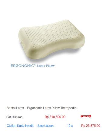 harga spring bed bantal latex lateks memory foam
