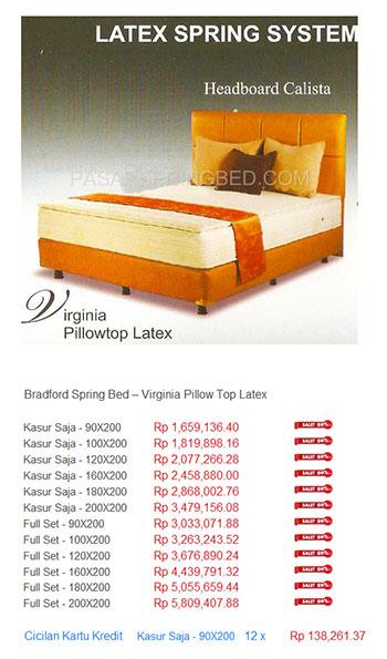 harga bradford spring bed