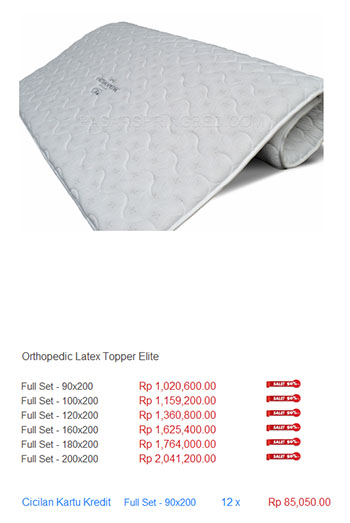 harga spring bed latex lateks memory foam topper