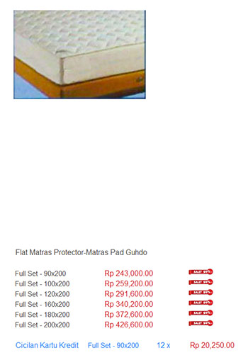 harga spring bed matras protector mattress alas kasur pelindung