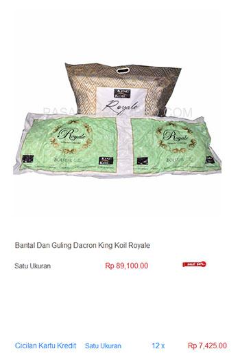 harga spring bed bantal guling