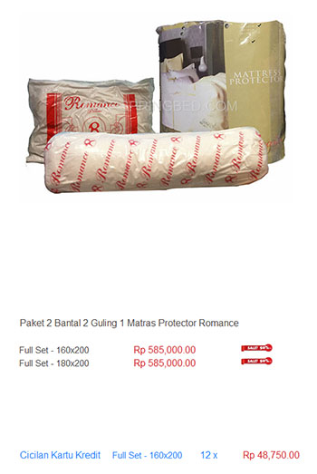 harga spring bed bantal guling matras protector mattress