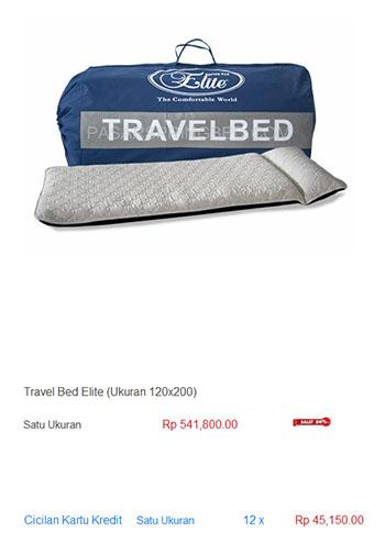 harga spring bed travel bed matras mattress kasur piknik