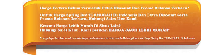 harga king spring bed