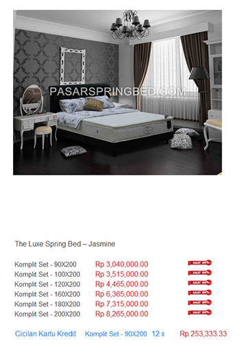 Harga The Luxe Spring Bed TERMURAH Di Indonesia Kasur The